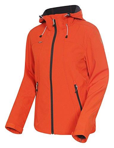 ICEPEAK Damen Softshell Jacke Sisko, Orange, 40, 354905682I