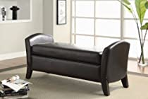 Big Sale Northlake Upholstered Storage Bench Finish: Dark Brown