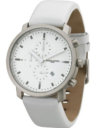 Jorg Gray Men's Quartz Watch JG1460-14 with Natural Leather Strap