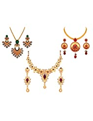 Variation Ethnic Fashion Jewellery Set Combo For Women (VD15978)