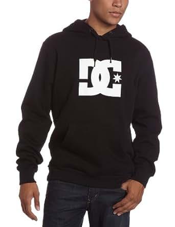 DC Men's Star Pullover Hooded Fleece Top, Black, Medium