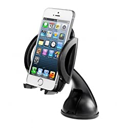 [New Arrival] iClever ICH03 360 Degree Rotation Universal Windshield & Dashboard Car Mount Cradle Holder for iPhone...