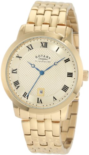 Rotary Men's Round Gold-Plated Bracelet Watch GB42827/09