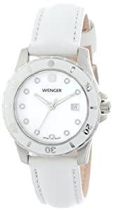 Wenger Ladies 70381 Sport White Dial Leather Watch by Wenger