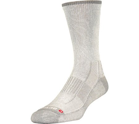 Drymax Hiking Lite-mesh 1/4 Crew Socks - Large (W 10-12 / M 8.5-10.5) - Brown