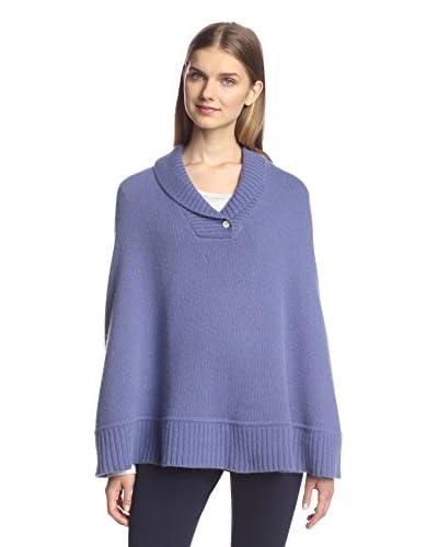 Portolano Women's Knit Poncho, Garza Purple