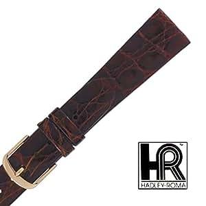 Amazon.com: Hadley Roma 18mm Genuine Crocodile Chestnut Strap: Watches