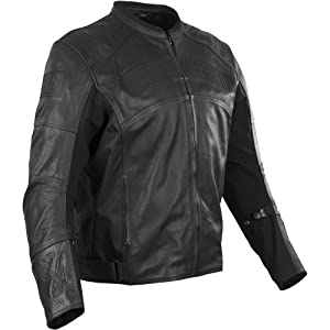 Speed and Strength Seven Sins Men's Leather/Textile Street Motorcycle Jacket - Stealth / Medium