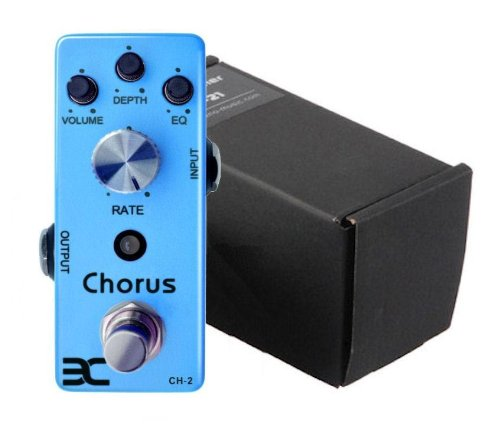 Global Sale Eno Ch-2 Chorus Guitar Effect Pedal True Bypass+5 Way Daisy Chain Cable
