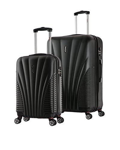 InUSA Chicago 21″ & 25″ Hardside Luggage Set, Black