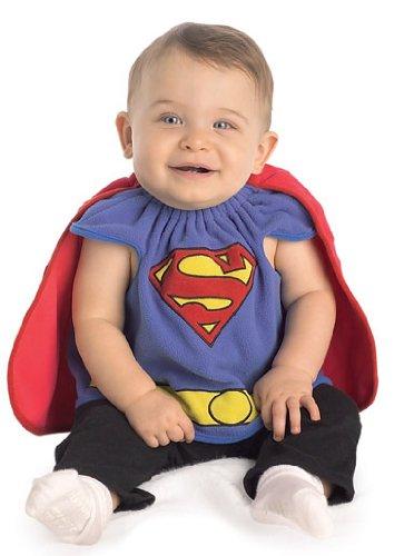 Superman Deluxe Bib, Superman Print, Newborn Costume - 1