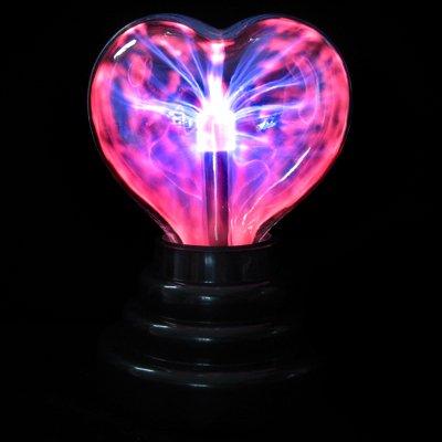 Music / Sound Activated Plasma Heart Night Light Lamp Lighting 110V