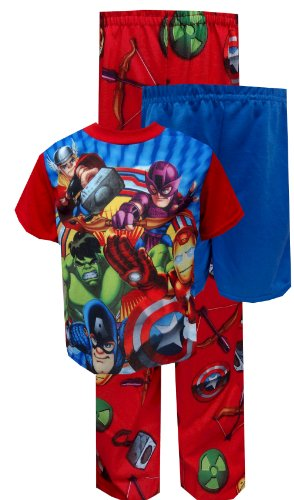 Marvel Comics Superhero Squad 3 Piece Toddler Pajamas For Boys (2T) front-990056