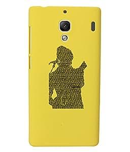 KolorEdge Back Cover For Xiaomi Redmi 1S - Yellow (1676-Ke15091Redmi1SYellow3D)