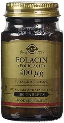 Solgar 400g Folacin Folic Acid Tablets - Pack of 100 from Solgar