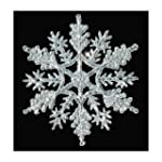 12-pc Silver 4 inch Snowflake Christm...