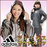 (アディダス)adidas サウナスーツ レディース ブラック×ピンク L