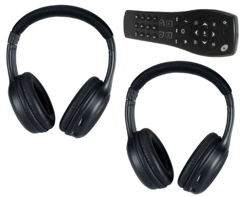 Acadia Sierra Yukon DVD Headphones Headsets (Set of Two) and One Remote Control 2008 2009 2010 2011 2012 2013 Picture