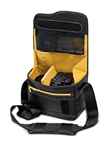 Be.ez - 100989 - Sac bandoulière LE reporter Photo - Black/Safran