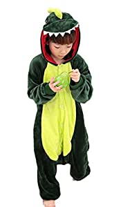 Us Top (Green Dinosaur) Children's Halloween Costumes Kids Onesie Animal Cosplay