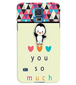 Fuson 3D Printed Love Designer back case cover for Samsung Galaxy S5 - D4358