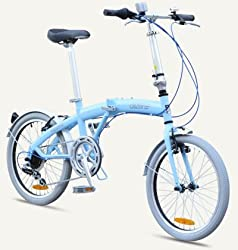"MIAMI Citizen Bike 20"" 6-speed Folding Bike with Steel Frame (Sky Blue) by Citizen Bike"