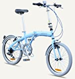 "MIAMI Citizen Bike 20"" 6-speed Folding Bike with Steel Frame (Sky Blue)"