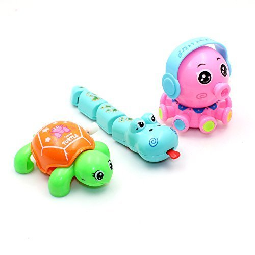 riipoo Novelty child interactive toys, cartoon characters,Develop Baby Intelligence Wind-up tortoise,snake,pig Toys,Inexpensive toys,Suitable for over 3 years of age(3 x pack)