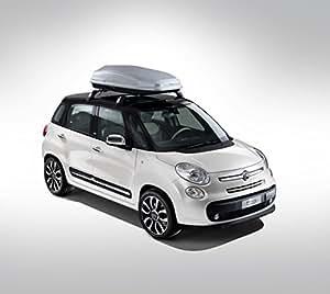 "Fiat 500L (2012) Car Art Poster Print on 10 mil Archival Satin Paper White Front Side Studio View 20""x15"""