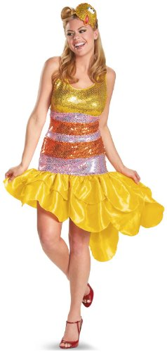 Sesame Street Big Bird Glam Adult Plus Costume, X-Large (18-20), Yellow