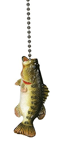 Large Mouth Bass Fishing Lodge Ceiling Fan Pull