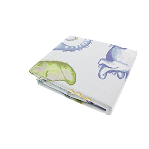 Truly Scrumptious Dinosaur Tracks Fitted Crib Sheet Drap-Housse - 1
