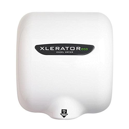 Excel Dryer XLERATOReco XL-BW-ECO Hand Dryer, No Heat, White Thermoset Resin (BMC) Cover, Automatic Sensor, Surface Mounted, LEED Credits, GreenSpec Listed, Commercial Hand Dryer, 500 Watts (Xlerator Excel Dryer compare prices)