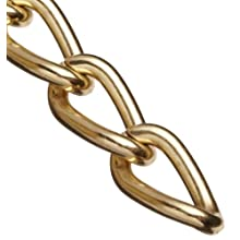 "Campbell 0712017 Hobby and Craft Twist Chain, Brass Plated, #200 Trade, 0.079"" Diameter, 12 lbs Load Capacity, 49 Feet Mini Reel"