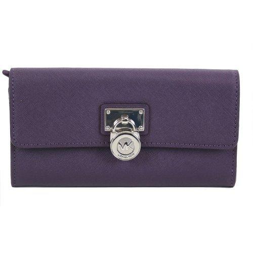 Michael Kors Hamilton Large Saffiano Wallet Purple