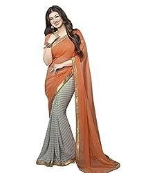 Hari Krishna sarees Self Design Bollywood Georgette Sari/F233