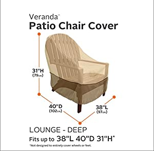 Classic Accessories 55-412-011501-00 Veranda Patio Deep Seat Lounge Chair Cover by Classic Accessories