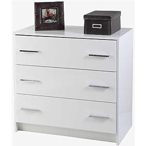 Com cassettiera elegante moderna camera laccato bianco for Cassettiera amazon