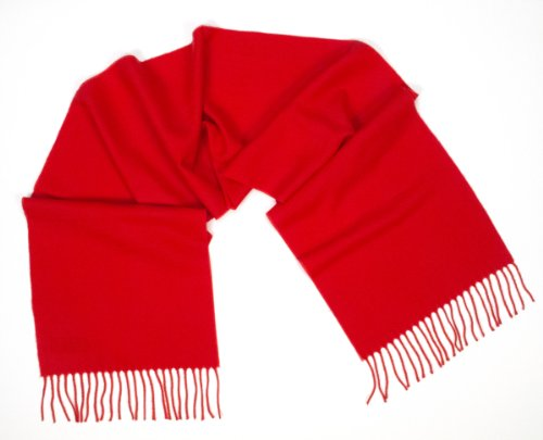 Ann Carol Designs 100% Cashmere Wool Scarf Germany 12 Inches x 64 Inches Red