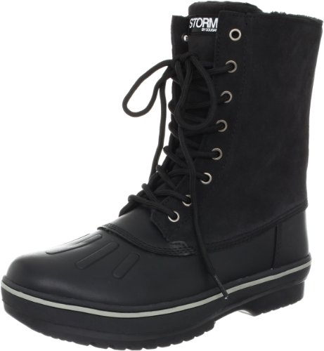 Storm by Cougar Men's Squire Snow Boot,Black/Slate Nubuck/Suede,8 M US