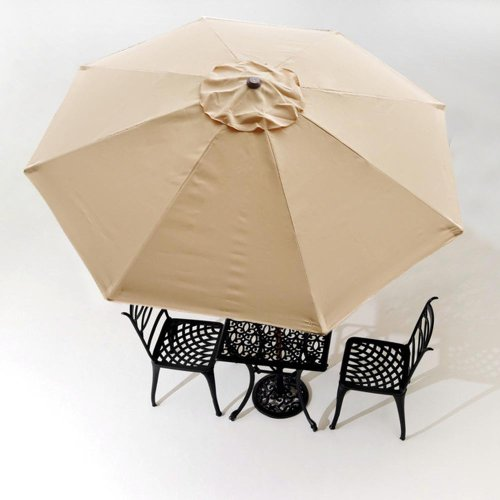 Ideal Ft Rib Patio Umbrella Replacement Cover Canopy Outdoor Market Beach Deck Top