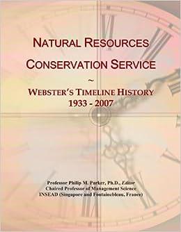 Natural Resources Conservation Service: Webster's Timeline ...