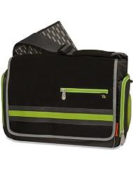 Fisher-Price FastFinder Urban Messenger Diaper Bag Black/Grey