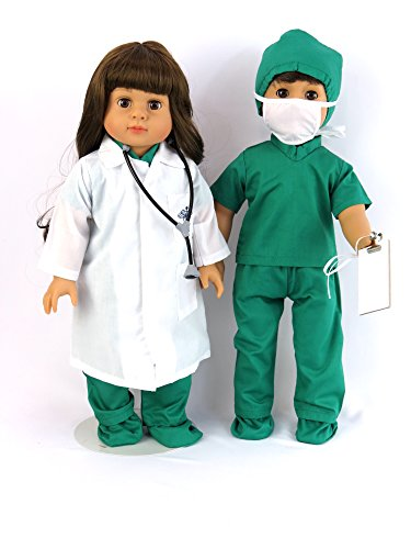 doctor-or-nurse-7-pc-set-18-inch-doll-clothes-complete-with-white-doll-lab-coat-face-mask-medical-gr