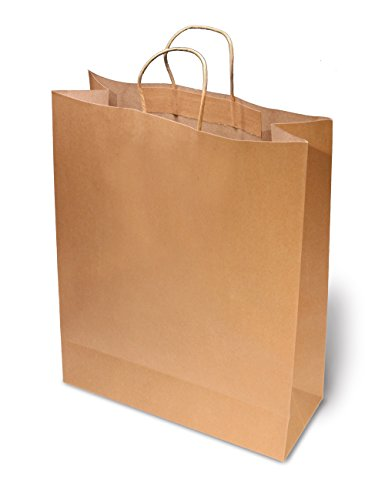 Brown Paper Bags With Handles for Grocery, Arts & Crafts, Shopping-24 Count (Extra Large) 20x16x6 (Extra Large Paper compare prices)