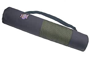 Lightweight Yoga Mat Bag fits Standard to Extra Thick Yoga Mats - Black
