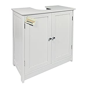 woodluv under sink bathroom storage cabinet white