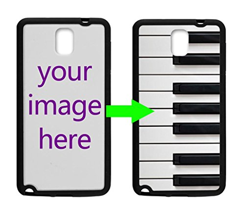 Fashion Design Piano Keyboard Personalized Custom Case For Custom Samsung Galaxy Note 3 N900 Case ( Laser Technology )Black / White Hard Plastic Samsung Note 3 Case