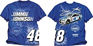 Checkered Flag Jimmie Johnson #48 Electric T-Shirt - Royal Blue by Checkered Flag