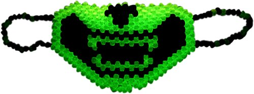Glow In The Dark Cat Smile Mouth With Teeth Full Kandi Mask by Kandi Gear